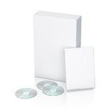 White package with 3 CD - DVD Royalty Free Stock Photography