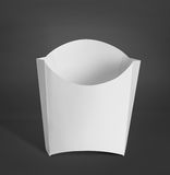 White Package Box for french fries food products Stock Images