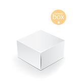 White package box. Packaging mock up template.  Royalty Free Stock Images