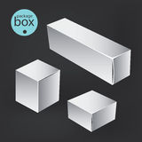 White package box. Packaging mock up template. Stock Photo
