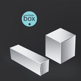 White package box. Packaging mock up template. Stock Photography