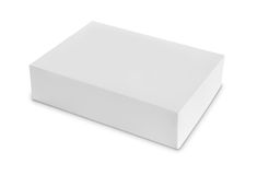 White Package Box for products. White Package Box. For Software and other products isolated over white background Royalty Free Stock Photo