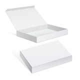 White Package Cardboard Box set Royalty Free Stock Image