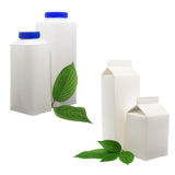 White package with leaf Stock Image