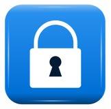 White padlock Stock Image