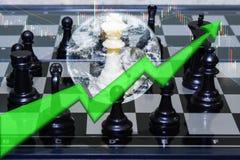 White paen win black king concept business stock. Market Stock Photo