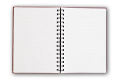 White page on the white. Stock Images