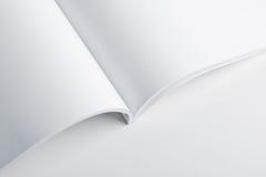 White pages de livre ouvert Photographie stock