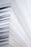 White pages. Pages of a new book in close up view Stock Image