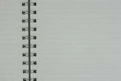 White pages of notebook is open. Top view Stock Images