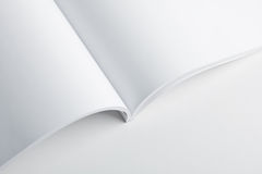 White pages of open book. Empty white pages of open book or album Stock Photography