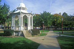 White Pagoda. Built in 1877 in Washington Park, Dubuque, IA Royalty Free Stock Photography