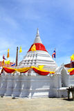 White pagoda against blue sky at Wat Poramaiyikawas Temple Royalty Free Stock Photo