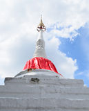 White Pagoda. Ancient imbalanced white stupa at Koh Kred Island Bangkok royalty free stock photo