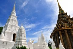 White Pagoda And Square Structure With Four Arches Stock Image