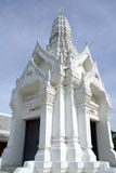 White pagoda in Ayuthaya Royalty Free Stock Photography