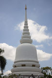 White pagoda in Bangkok. White pagoda and blue sky in Bangkok Royalty Free Stock Photos