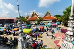 White Pagoda and market Royalty Free Stock Photos