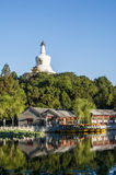 White pagoda in Beihai park Stock Images