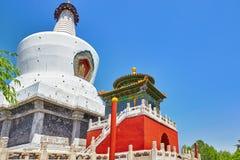 White Pagoda in  Beihai Park, near the Forbidden City, Beijing. Stock Image