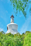 White Pagoda in  Beihai Park, near the Forbidden City, Beijing. Stock Photography