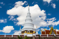 White pagoda and blue sky Stock Images