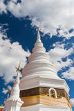 White pagoda and blue sky Royalty Free Stock Photo
