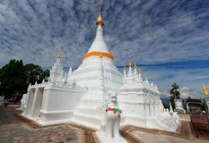 White pagoda and blue sky Stock Photos