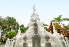 Xishuangbanna Baita Temple. White pagoda in Buddhist temple in Xishuangbanna, Sipsongpanna, or Sibsongbanna in the south of Yunnan province, People`s Republic of Stock Photography