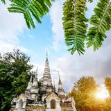 Xishuangbanna Baita Temple. White pagoda in Buddhist temple in Xishuangbanna, Sipsongpanna, or Sibsongbanna in the south of Yunnan province, People`s Republic of Royalty Free Stock Image
