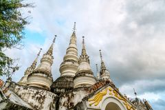 Xishuangbanna Baita Temple. White pagoda in Buddhist temple in Xishuangbanna, Sipsongpanna, or Sibsongbanna in the south of Yunnan province, People`s Republic of Stock Image