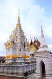 A white pagoda at chaiya temple , Suratthani Stock Photography