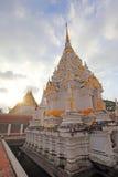 A white pagoda at chaiya temple , Suratthani Stock Image