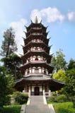 White Pagoda in Egret Island Park, Nanjing, China Stock Image