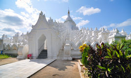 White pagoda of Hsinbyume (Mya Thein Dan pagoda ) paya temple Royalty Free Stock Images