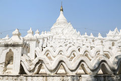 The white pagoda of Hsinbyume Stock Images