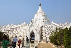 The white pagoda of Hsinbyume Royalty Free Stock Photography