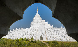 White pagoda of Hsinbyume, Myanmar Stock Images