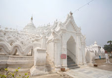 The white pagoda of Hsinbyume (Myatheindan) paya temple Royalty Free Stock Image