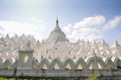 White pagoda of Hsinbyume paya temple, Mingun, Mandalay Royalty Free Stock Image