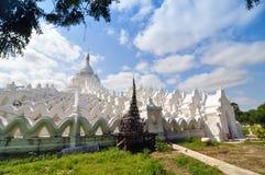 White pagoda of Hsinbyume paya temple, Mingun, Mandalay - Myanma Royalty Free Stock Images