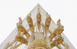 The white pagoda Stock Photo
