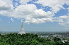 White Pagoda in Khao Wang Royal Palace Royalty Free Stock Photography