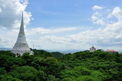 White Pagoda in Khao Wang Royal Palace Royalty Free Stock Images