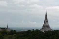 White Pagoda in Khao Wang Royal Palace Royalty Free Stock Image
