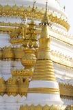 White pagoda ,Maehongson province, Thailand. Royalty Free Stock Images