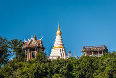 White Pagoda and Mondop , Chanthaburi, Thailand. White Pagoda and Mondop on Khao ploy waen, Chanthaburi, Thailand Royalty Free Stock Photos