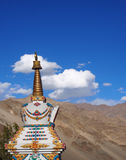 White Pagoda with mountain view Royalty Free Stock Images