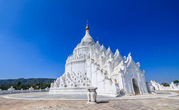 White pagoda Myanmar Stock Images