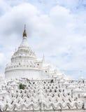 White pagoda Myatheindan in Mandalay, Myanmar 2 Stock Photos